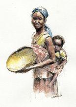 Enfant-mère-afrique