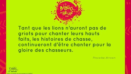 L Histoire Du Lion Et Du Chasseur Cdl La Bibliothèque Qui